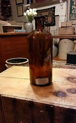 Antique Amber Glass Pharmacy Apothecary Bottle Meyer Brothers St. Louis