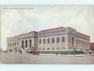 Unused Divided Back LIBRARY SCENE St. Louis Missouri MO hs2417