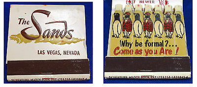 Matchbook - The Sands Hotell Las Vegas Nevada Lion 21 Feature Matches - UNUSED