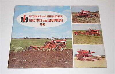 VINTAGE 1960 INTERNATIONAL HARVESTER McCORMICK TRACTORS & EQUIPMENT CATALOG