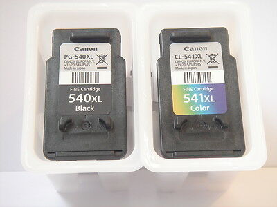 Empty Original Canon 541XL & 540XL Ink Cartridges - Used Once - Never Refilled.