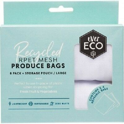 Reusable Produce Bags 8 Pack + Storage Pouch EVER ECO