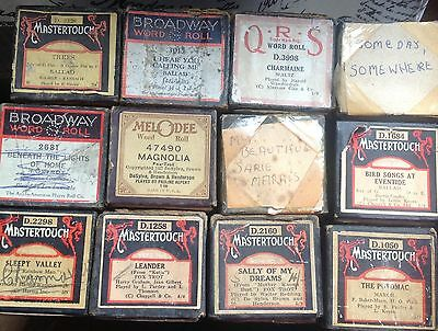 12  X   Pianola Rolls  Rare Titles Very Good Condition