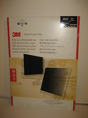 "Brand New 3M Privacy Filter Black PF20.0W9 Display privacy filter 20"" Free Ship"