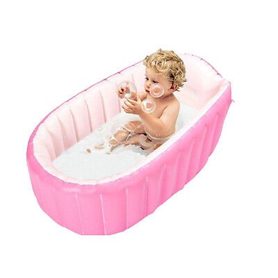 Baby Kids Toddler Summer Portable Inflatable Bathtub Newborn Thick Bath Tub Safe