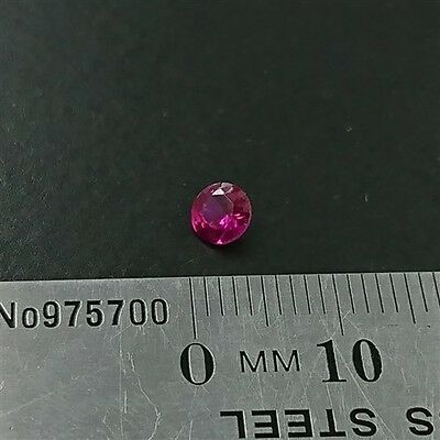 LOOSE RUBY GEMSTONES x1 - 4.5mm Round cut created Ruby- Free Post