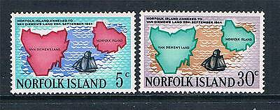 Norfolk Is 1969 Van Diemen's Land SG 100/1 MNH