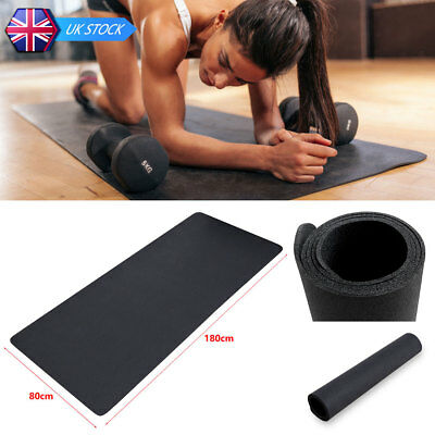 Black PVC Fitness Equipment Floor Protector Rubber Mat Non Slip for Treadmills