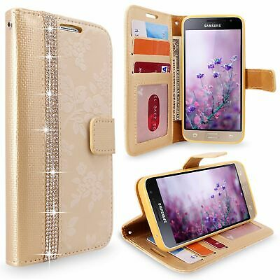 For Samsung Galaxy J3 (2016) PU Leather Wallet Card Holder Flip Stand Case Cover