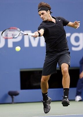 Roger Federer's Personal Custom Match Used Owned 2007 US Open Raquet