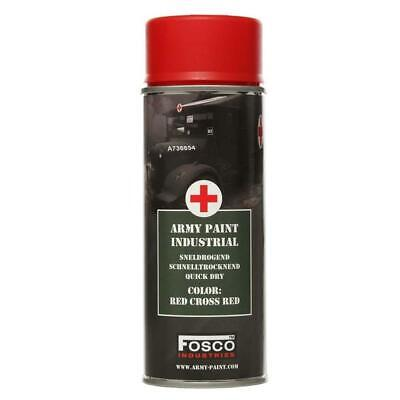 Bombe De Peinture Militaire Spray Fosco 400 Ml Red Cross Croix Rouge