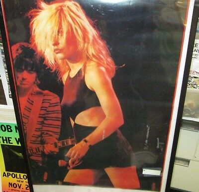 Blondie Poster Live New Never Opened 1990's  Vintage Close Up Debra Harry