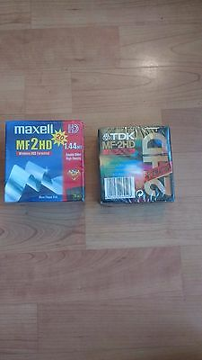 20x MF-2HD disks in 2 packs ( TDK and Maxell)  All new and sealed