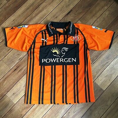 VINTAGE Orange / Black Large RFL Rugby League Referee Shirt  Powergen Sponsor
