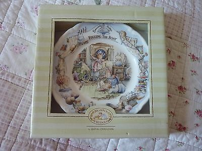 "Royal Doulton Brambly Hedge Rigging The Boat 6"" Plate 1St Quality Boxed & Rare"