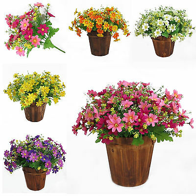 1Bunch Artificial Fake Daisy Flower Bouquet Home Wedding Party Decor