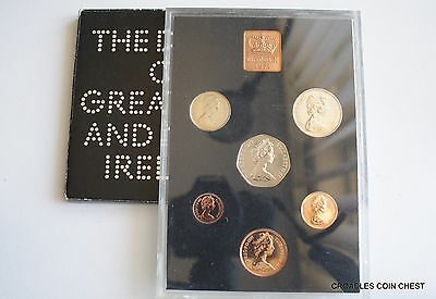 1971  Proof Set Royal Mint Cased With Outer Sleeve Some Toning To Coins