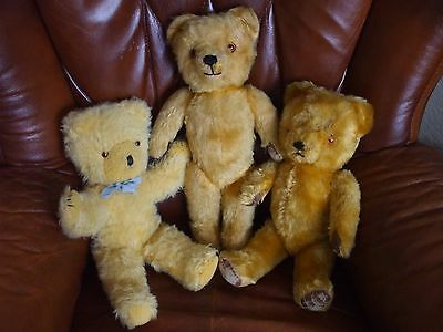 3 Lovely Old Teddy Bears Looking For A New Home!