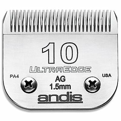 Andis Ultraedge Number #10/1.5mm Dog Pet Grooming Clipper Blade Snap-on System