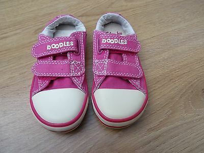 Girls Clarks Doodles Size 6 F Pink Canvas Shoes Summer Trainers Eur 22.5