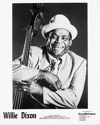 Original 8x10 promo photo of blues bassist and songwriter WILLIE DIXON 1980s