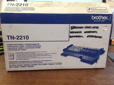 Genuine Brother TN-2210 Black Toner Cartridge 1200 pages Brand New and Sealed