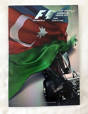 Formula One F1 Azerbaijan Baku Grand Prix 2017 Programme + Race Card Stickers