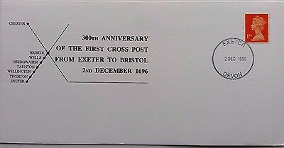 Great Britain 1996 Exeter 300Th Anniversary Of The First Cross Post Cover