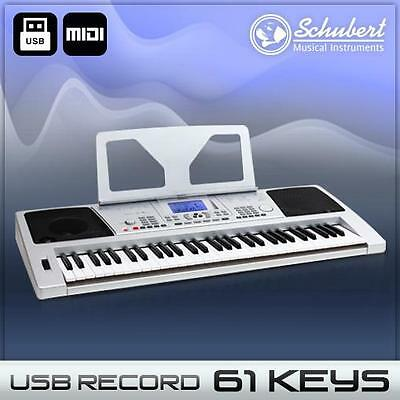 61 Tasten Beginner Home Keyboard Piano Klavier Usb Midi 128 Sounds 12 Demos Rec