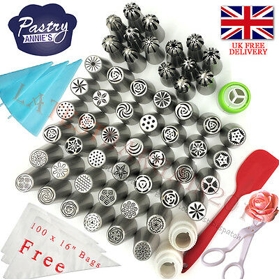 162 Set Icing Russian Nozzles Flower Tips Piping Bag Pastry Cake Decorating Tool