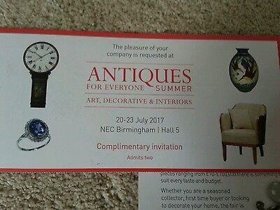 Antiques for Everyone tickets for 2 with free parking