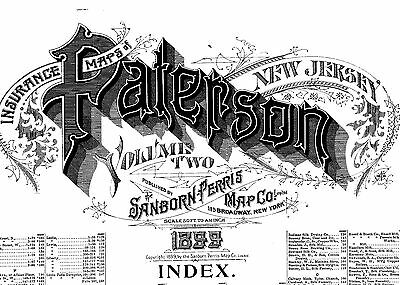 Patterson, New Jersey~Sanborn Map©sheets~1899, 1915~4 volumes  with 337 maps