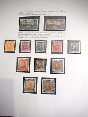 New Zealand Mint Stamps 1946 Health Stamps 1947-52 Stamps