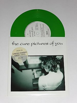 "The Cure - Pictures Of You - UK Limited Edition 7"" Green Vinyl Single FICPA34 NM"