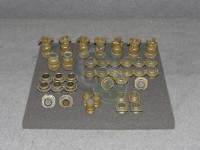 Lot x39 Assorted ITT Cannon MS3114 MS3106 MS3102 MS3108 Military Connector Plug