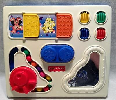 1992 Vintage Fisher Price Table Top Activity Center Busy Box EUC FREE SHIPPING