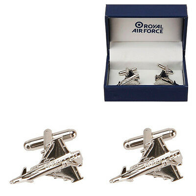 Official RAF Typhoon Silver Plated Cufflinks in Gift Box