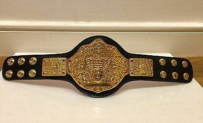 MINI 12 INCH WWE GOLD WORLD HEAVYWEIGHT RED STRAP CHAMPION METAL REPLICA BELT dx