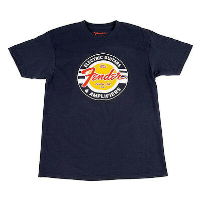 Fender Guitars and Amps Logo T-Shirt, Navy, M