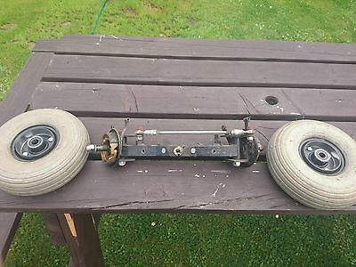 Mobility Scooter - Front Axle Complete Steering Brakes and Wheels (260 x 85)