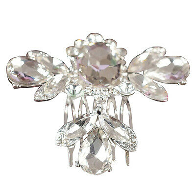 Bridal Wedding Crystal Rhinestone Flower Hair Clip Comb Pin Headband Diamon PF