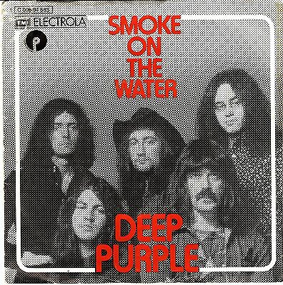 "Deep Purple Smoke On The Water + Live Version German Hard Rock 7"" 45 PS"