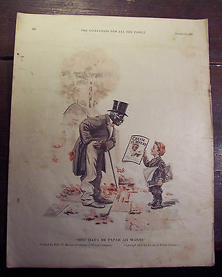 """COPYRIGHT 1916 - by Cream of Wheat Co.- """"SHO DATS DE PAPAH AH WANTS"""" - Full Page"""