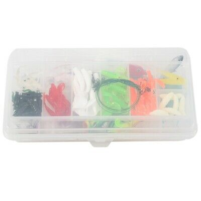 100 Fishing Lures Spinners Plugs Spoons Soft Bait Pike Trout Salmon+Box Set PF