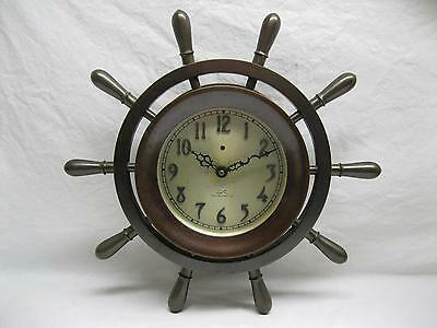 Chelsea Ships Wheel Clock Electric No Winding or Bell Vintage Old