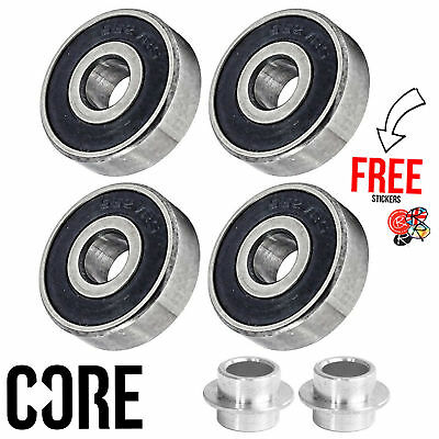 CORE Stunt Scooter Replacement Bearings Set 4 Pack, ABEC 7