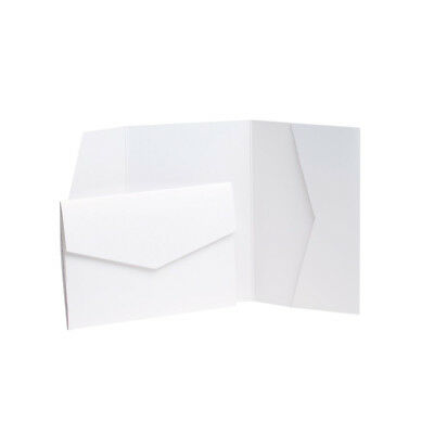 Ice Gold Pearlescent Wedding Card Invite with envelopes. Pocket Weddings