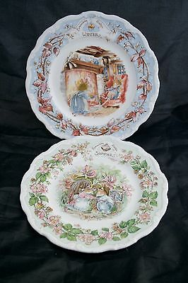 "Royal Doulton ""Brambly Hedge Collection"" Summer & Winter Plates"