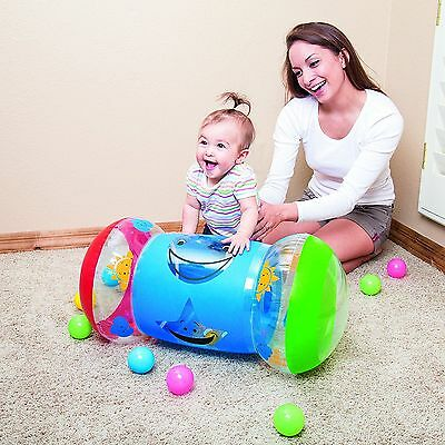 Bestway Baby Inflatable Vinyl Steps Kids Roller Multicolored Balls with Bells