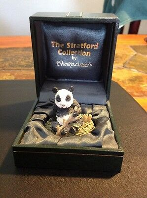 The Stratford Collection By Country Artists Miniature Panda Figure With Box